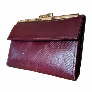 Vintage Anne Klein by St Thomas Red Leather Wallet